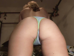 Blonde babe set on fire in the club and wants fuck