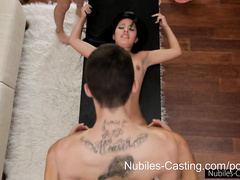 Nubile hottie shows her fuck skills at interview