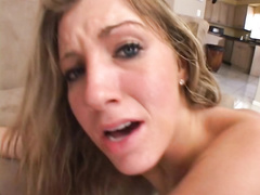 Horny MILF Barbie Cummings first tries hard double