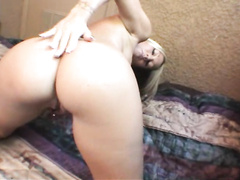 Booty naughty babe finger her bubble butt in doggy