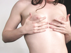 Solo scene with participation of well-shaped honey