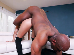 Hardcore anal sex of Aaliyah Hadid and her big interracial partner
