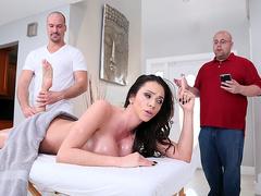 Stepmom Ariella Ferrera loves massage and stepson gifted her handsome masseur