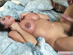 Student caught Ariella Ferrera home and made it to her cumming over big titties