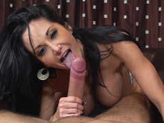 Stepmom Ava Addams uses big tits and mouth to satisfy stepson's cock