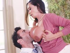 Caring mom Ariella Ferrera seduces handsome teacher to help her son
