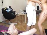 Zuzinka teaches her disciple fundamentals of sucking mens' cocks