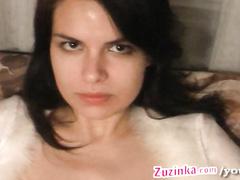 Zuzinka fucked with glass toy