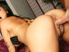 Hot brunette babe Nadia Styles takes big hard cock