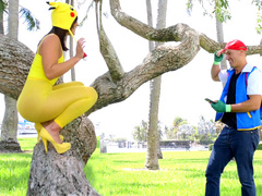 XXX-hung pokemon lover goes crazy about Kelsi Monroe's sweet butt