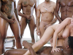 Lena Paul is the happiest mom because black males double penetrate her