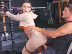 Man hires a fitness instructor who fucks his daughter Mandy Muse
