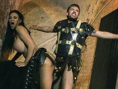 Gladiator roughly drills rival warrior with round tits Jasmine Jae