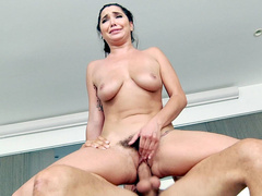 Man is interested in only one opening on body of stepmom Karlee Grey