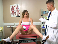 Brazzers doctor examines pussy of daughter Jillian Janson using fingers
