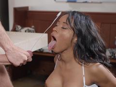 Kiki Minaj gets drenched with Danny D's monster cumshots