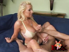 Gorgeous slut Candy Manson riding huge cock hard
