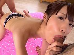 JAVHUB Tiny Asian Ageha Kinoshita bent over and fucked