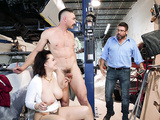 Nadia White gets caught by her huband after fucking the mechanic