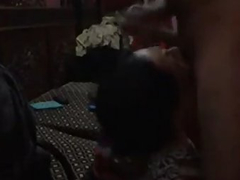 Busty Indian Bimbo Wife Sucking Young Thick Cock