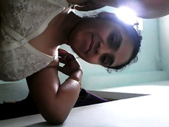 Aisha Indian Wife In White Lingerie