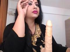 Indian BBW Bhabhi Masturbation Using Big Dildo
