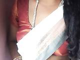 Indian MILF In White Sari Striptease Sex