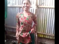 Teen Porn Sexy Indian Village Girl Open Air Shower