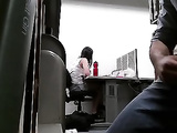 Amateur Masturbation In office For His Colleague