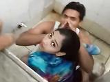Desi boy fucking his girlfriend in public toilet & Caught by public