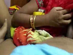 Indian Aunty Hard Fucking with Condom Cover Dick