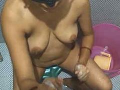 Sexy desi wife sucking and riding on sleeping husband cock