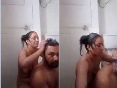 Exclusive- Desi Couple Romance and Sex In bathroom part 2