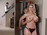 Mom Ryan Conner and son Xander Corvus being sneaky around dad sex vids