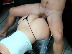 Bootylicious mom and boyfriend like XXX position called doggystyle