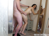 Stepdad and daughter shower & fuck