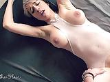 Short hair megababe Samantha Flair makes him cum twice