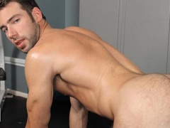 Handsome gay stud Hayden Clark showing off his ass