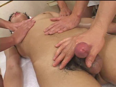 Hot Asian gay boy gets small cock and ass teased