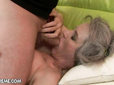 Hot granny Aliz gets hardcore poked in all holes