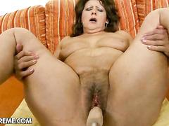 Nasty mature whore hard fucked in POV sex session
